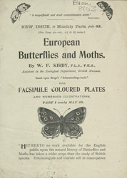 Advert For European Moths and Butterflies by W. F. Kirby